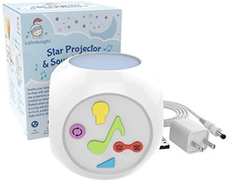 Star Projector Sound Machine With Cry Detect By Calm Knight Baby White Noise Nursery Night Light Musical Soother And Womb Sounds Made