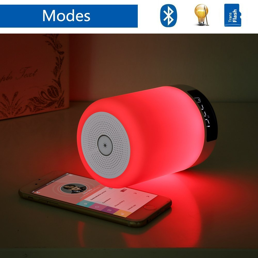 The KEYNICE Alarm Clock with Night Light and Bluetooth Speaker